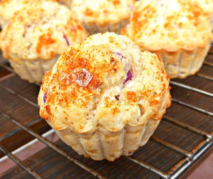 Cottage Cheese and Red Onion Muffins (Gluten Free and Low Fat)