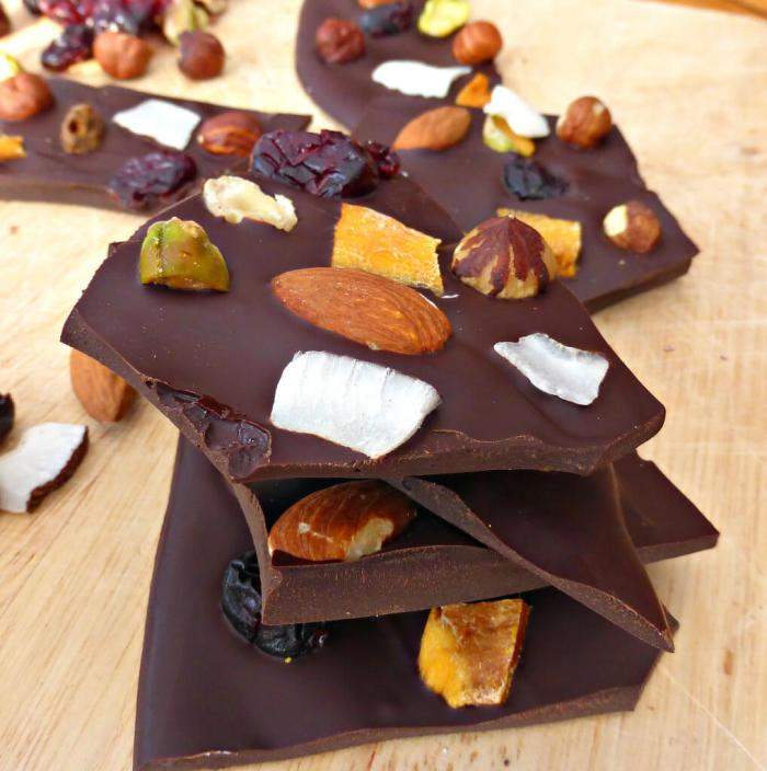 Fruit and Nut Dark Chocolate Bark