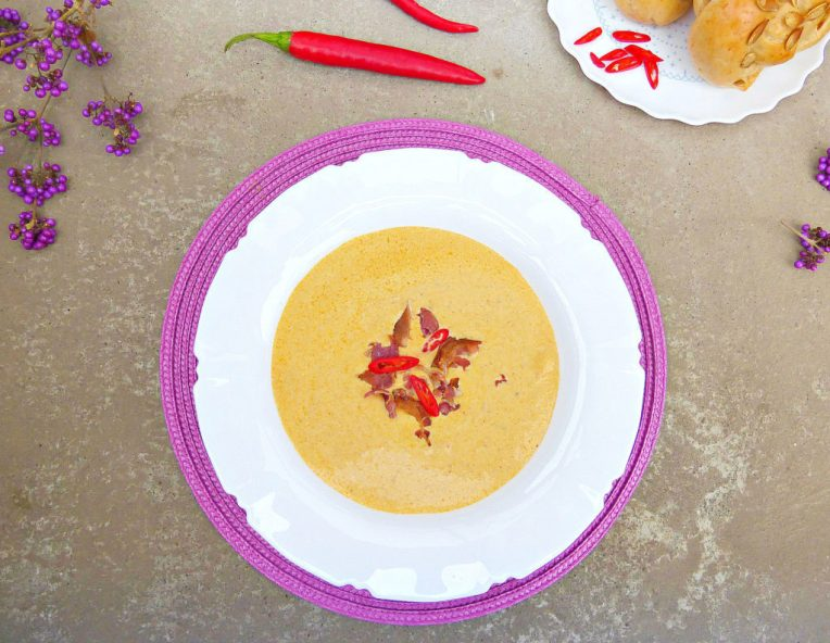 Thai Spiced Fresh Pumpkin and Bacon Soup