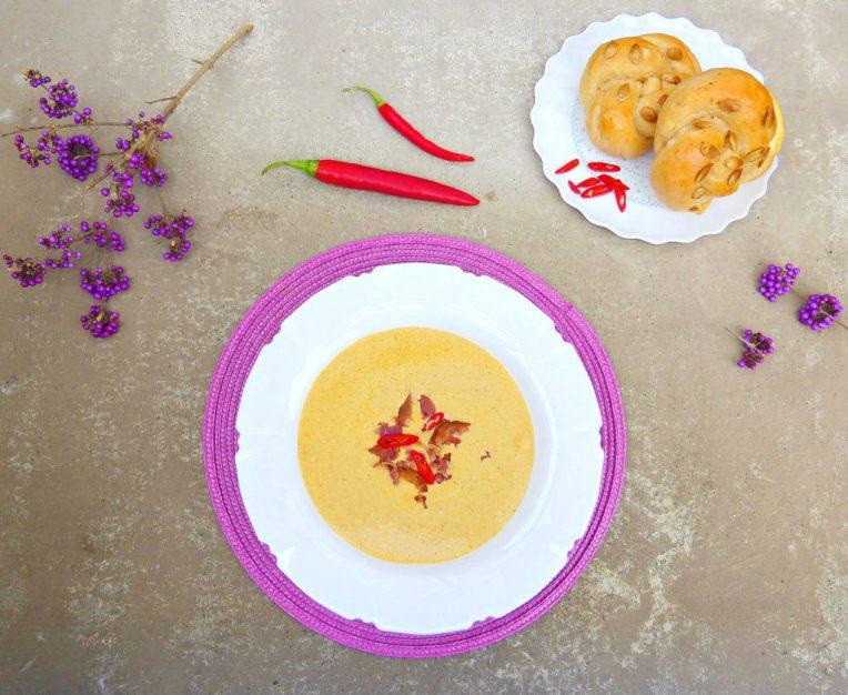 Thai Spiced Fresh Pumpkin and Bacon Soup