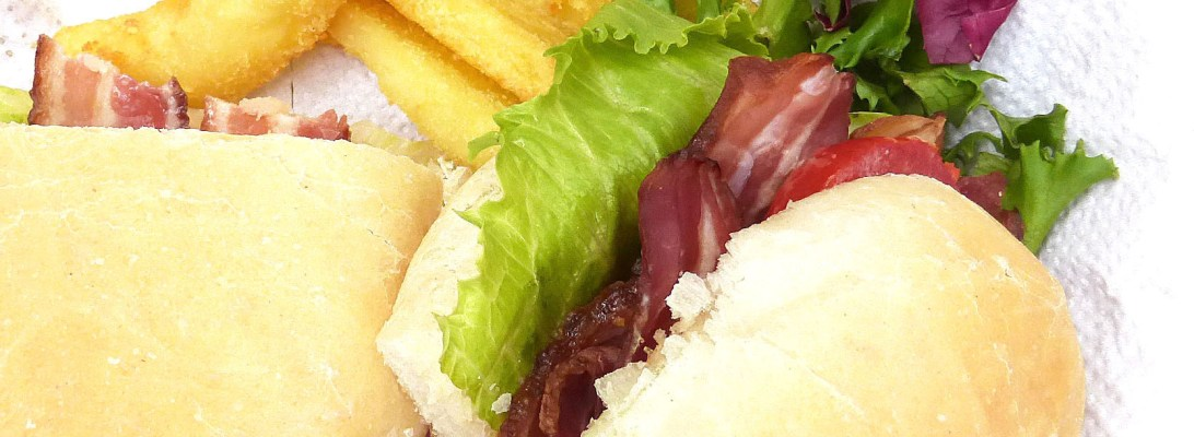 The Best BLT in Homemade Buns with Smoky Chilli Mayo