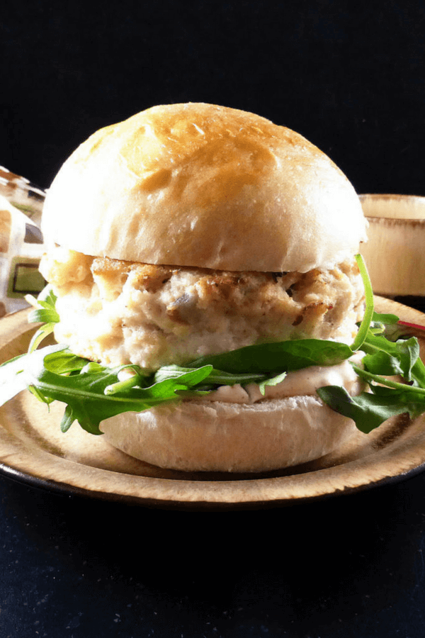 Fish Burgers with a Spicy Shallot Mayonnaise in Homemade Brioche Buns