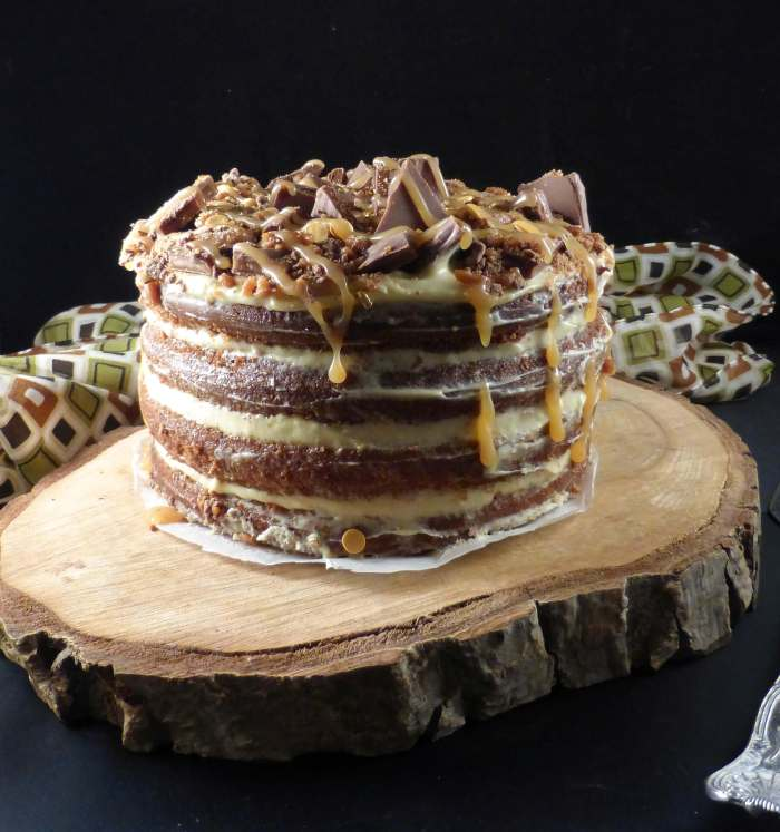 homemade butterscotch and daim layer cake with. Black Bedroom Furniture Sets. Home Design Ideas