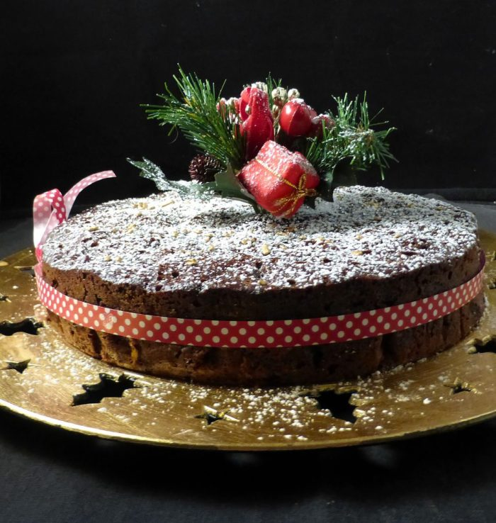 Simple Last Minute Christmas Fruit Cake With Or Without Gluten