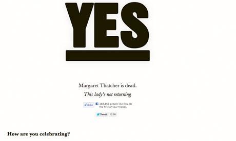 Is Thatcher dead yet?