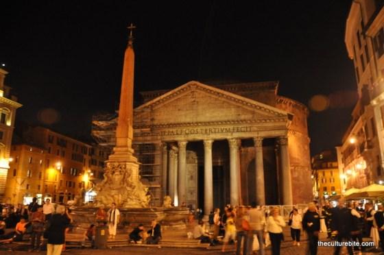 Rome Pantheon Night
