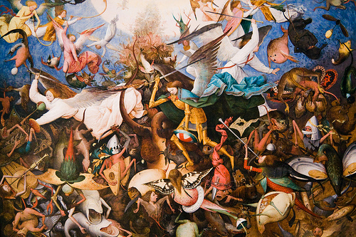 The Fall of the Rebel Angels (1562) by Pieter Bruegel.