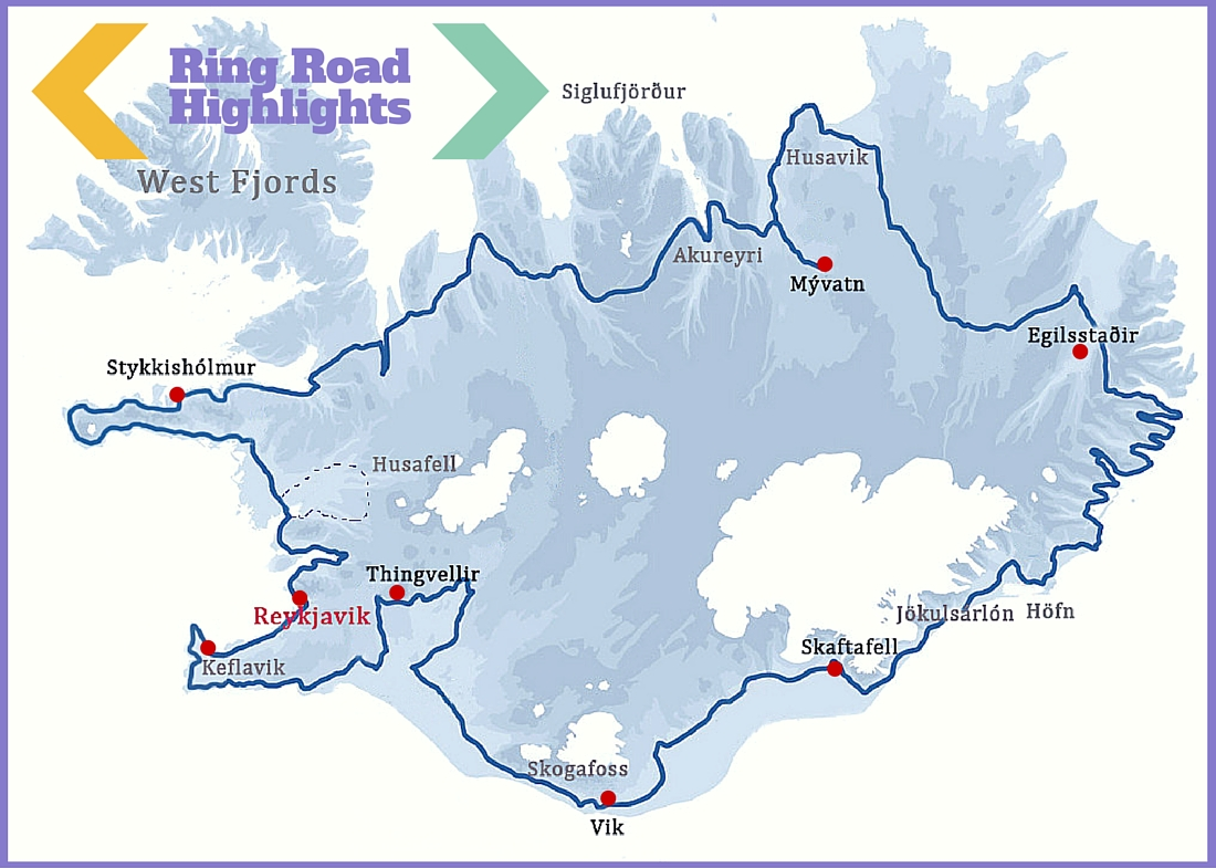 Iceland-Road-Trip-Map-Ring-Route-1 | The Culture Map