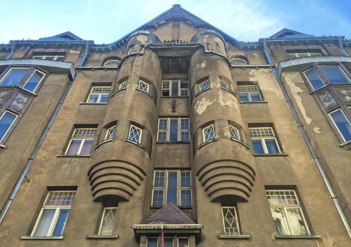 Art Nouveau architecture on Alberta Street in Riga