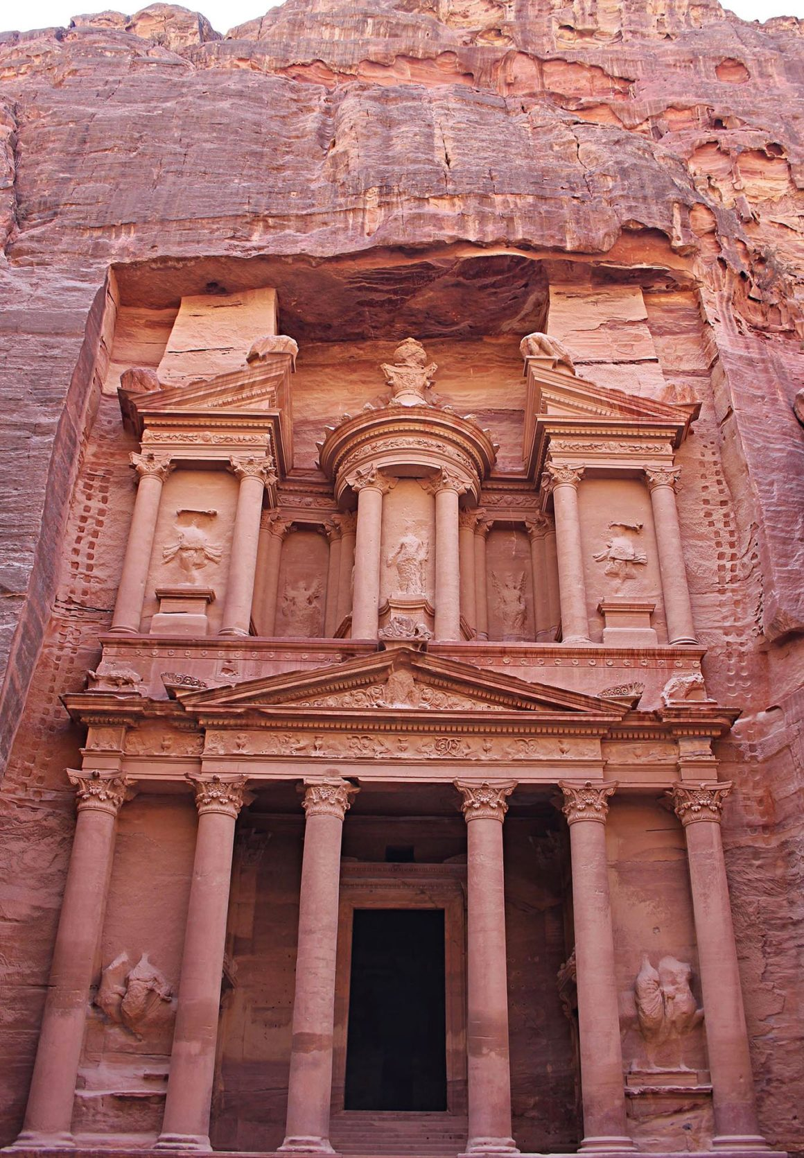The Treasury in Petra - One week in Jordan, travel itinerary