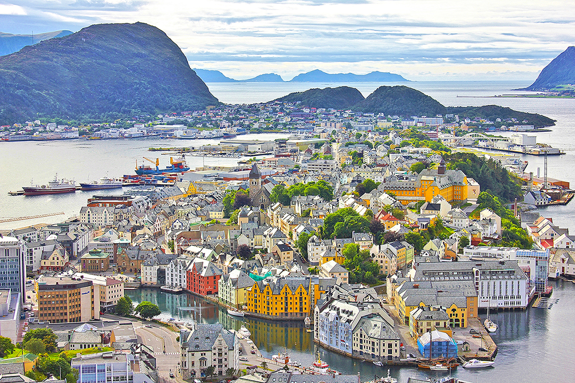 Alesund, Norway - most colourful towns and cities in Scandinavia
