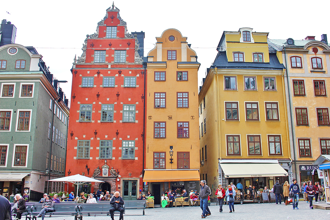 The colourful city of Stockholm - included in the 26 most colourful cities in Scandinavia