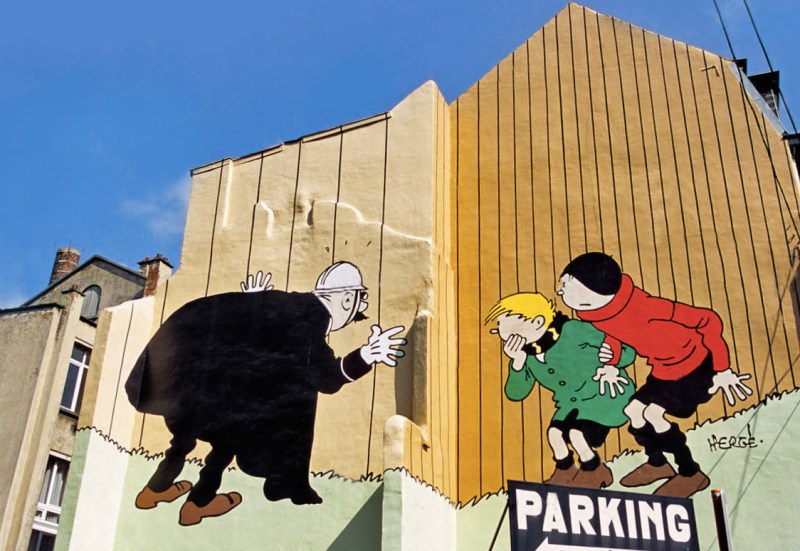 The Comic Book Murals Of Brussels The Culture Map