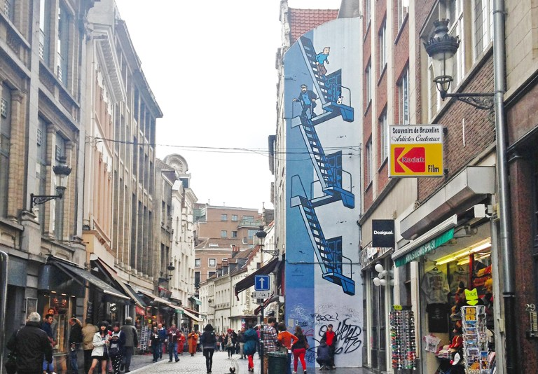 The Comic Book Murals of Brussels   The Culture Map