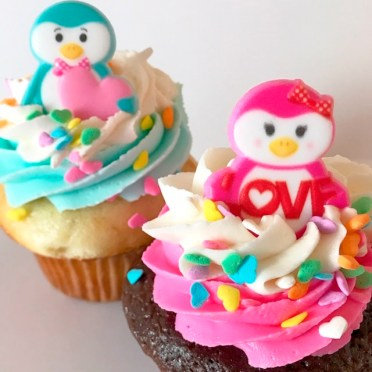 You Are My Penguin Valentine Cupcakes