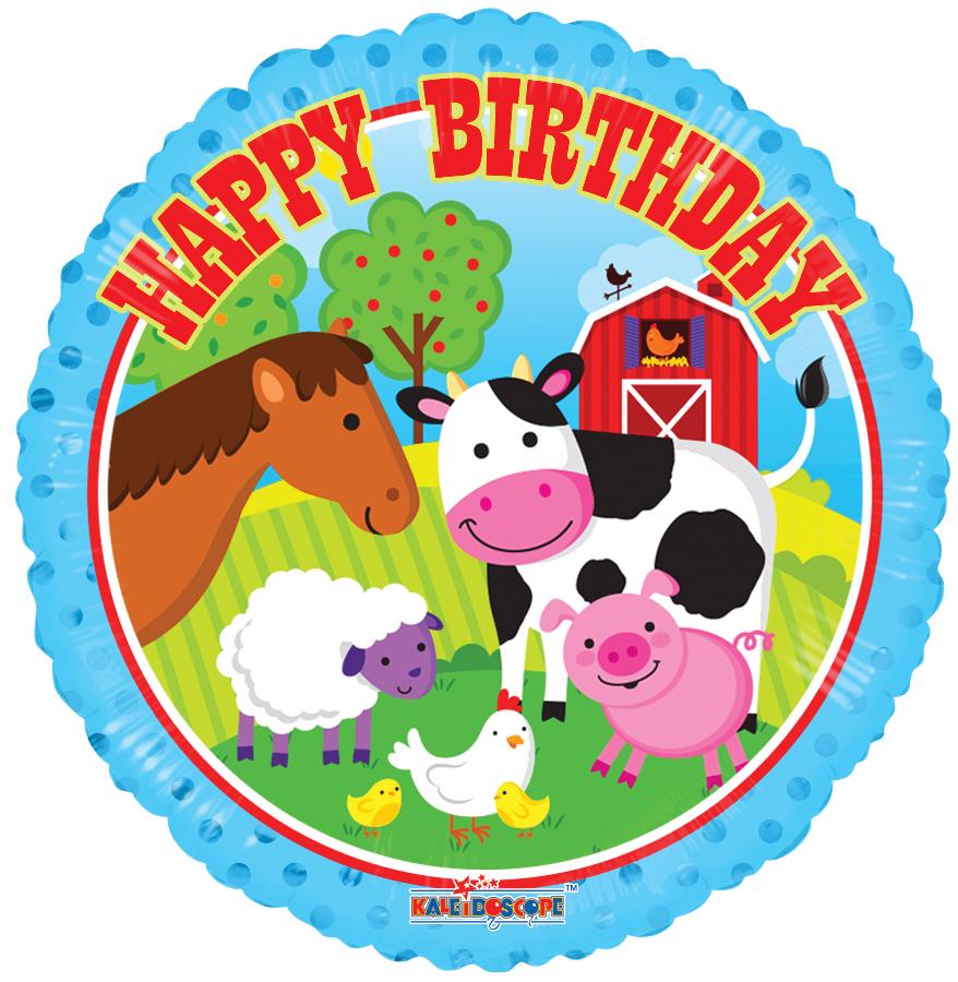 happy birthday farm animals
