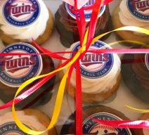 Choose your team baseball cupcakes