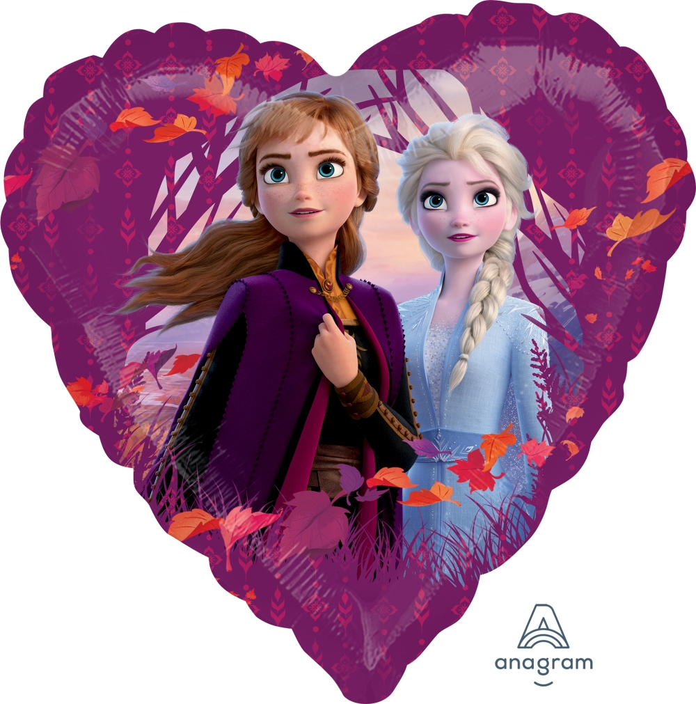 Frozen 2 Heart Shape Mylar Elsa Anna The Cupcake Delivers