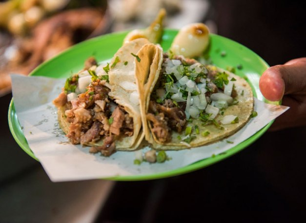 Suadero tacos at Merces
