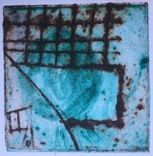 scraper board etching printed as intaglio