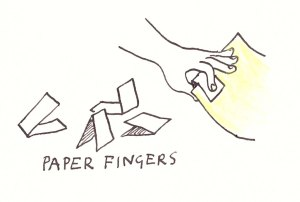 Using paper fingers