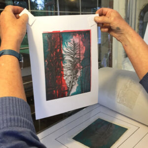 A print from a feather