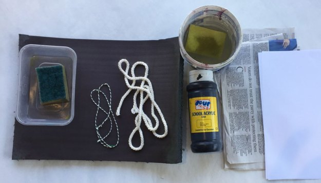 All the materials needed for yoga mat printing