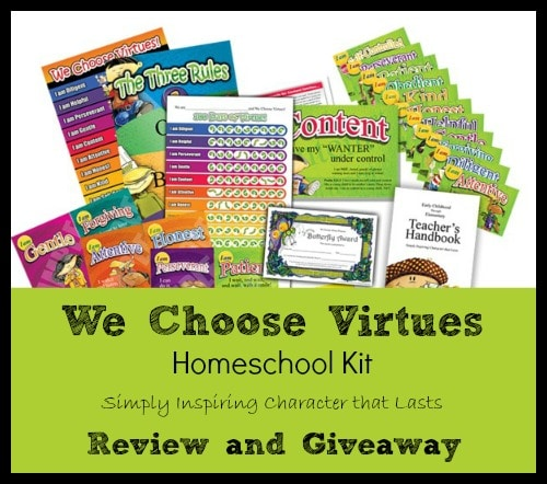 Review We Choose Virtues Homeschool Kit The Curriculum Choice