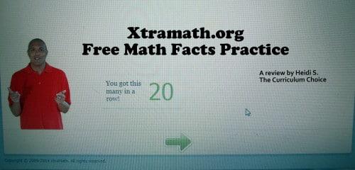 XtraMath Free Math Facts Practice  The Curriculum Choice