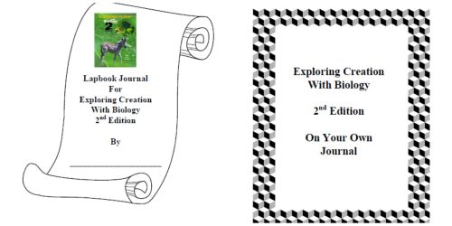 Apologia Exploring Creation With Biology Lapbook Journal