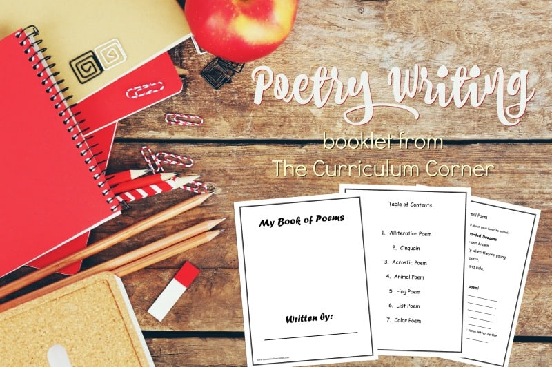 This free booklet is designed to help you with your poetry writing unit of study in your writing workshop. Created by The Curriculum Corner