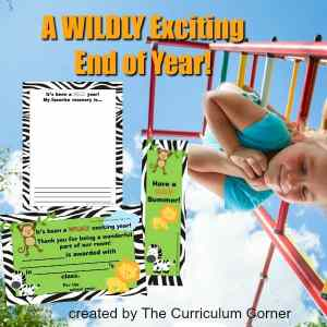 WILD End of Year Award Ideas from The Curriculum Corner 2