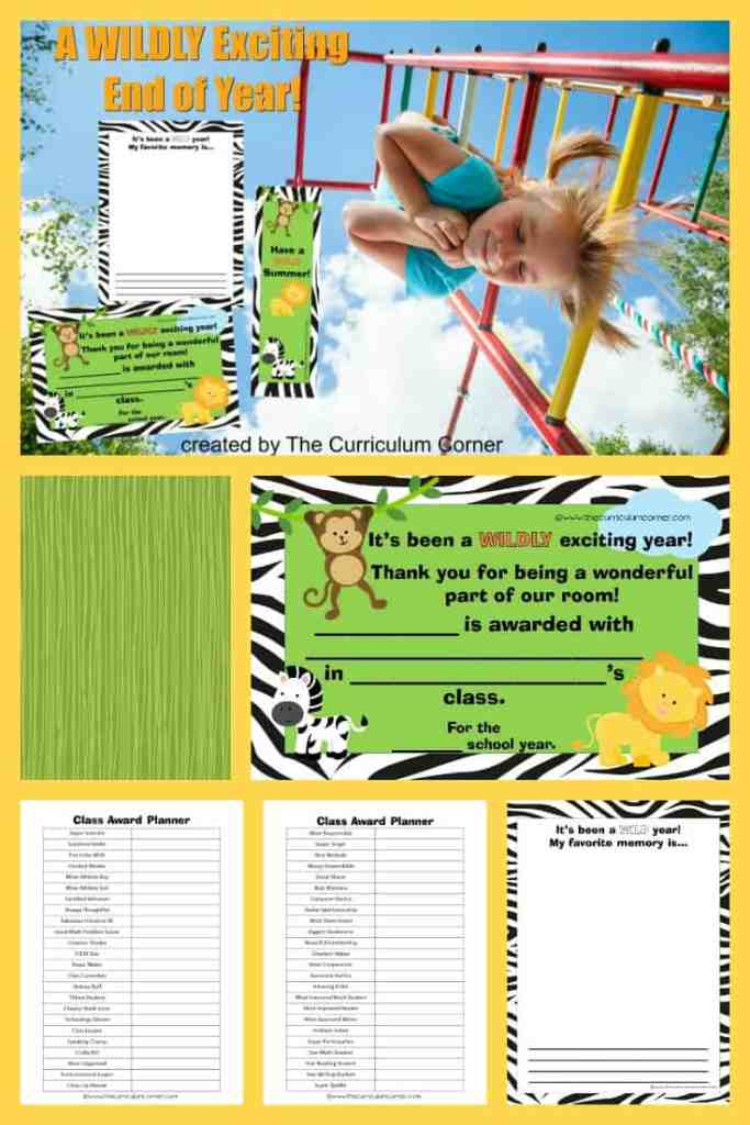 WILD End of Year Award Ideas from The Curriculum Corner