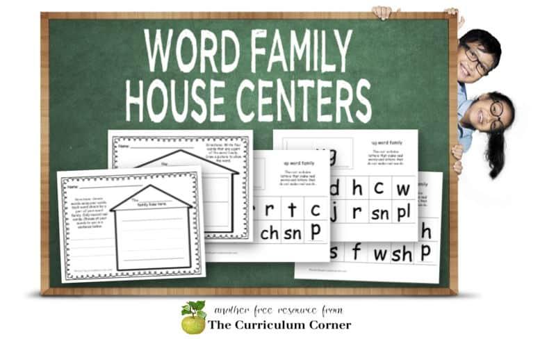 word family practice activity