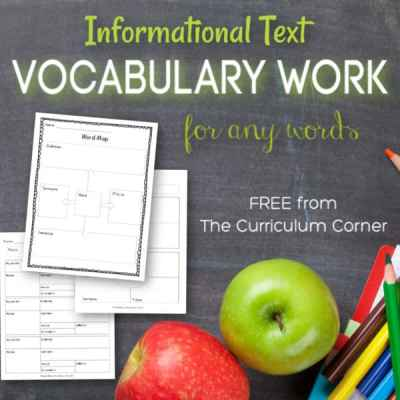 Informational Text Vocabulary Work