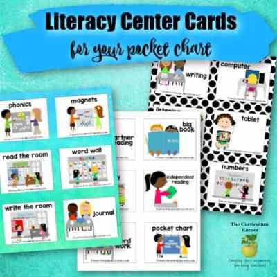 Literacy Center Pocket Chart Cards