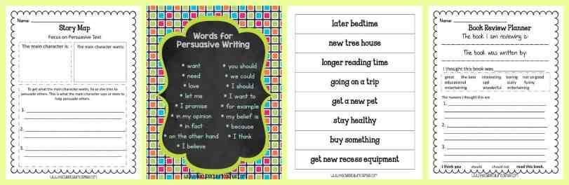 FREE Persuasive Writing Unit of Study from The Curriculum Corner | FREEBIE