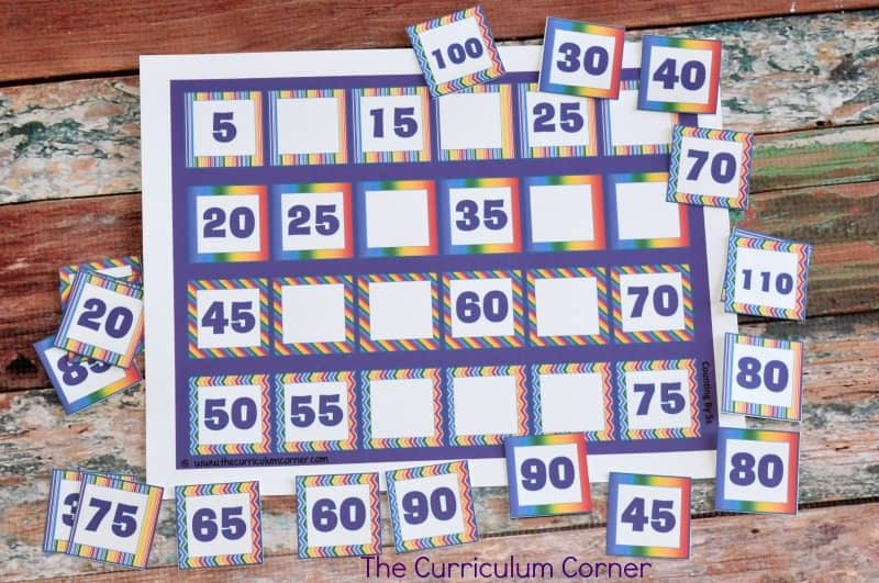 FREE Skip Counting by 2s, 5s and 10s Resources from The Curriculum Corner 2