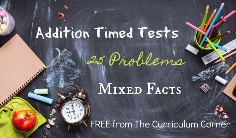 25 mixed addition facts