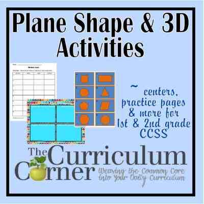 Plane 3d Shapes Activities The Curriculum Corner 123