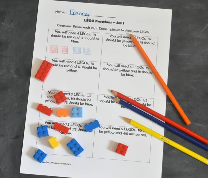 Beginning Fractions from The Curriculum Corner 3