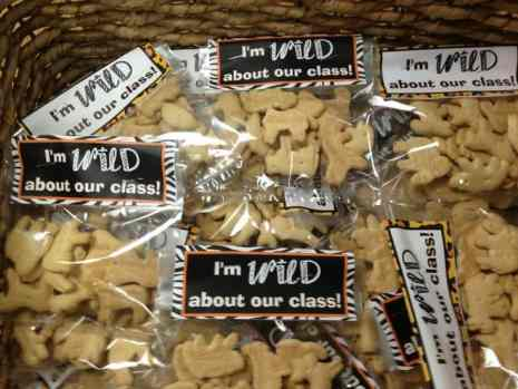 I'm wild about our class FREE treat toppers from The Curriculum Corner