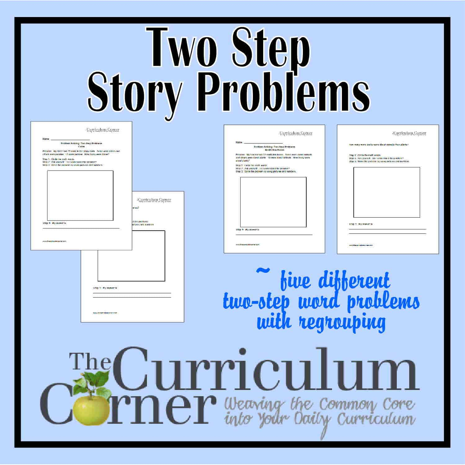 2 Step Problem Solving Worksheet