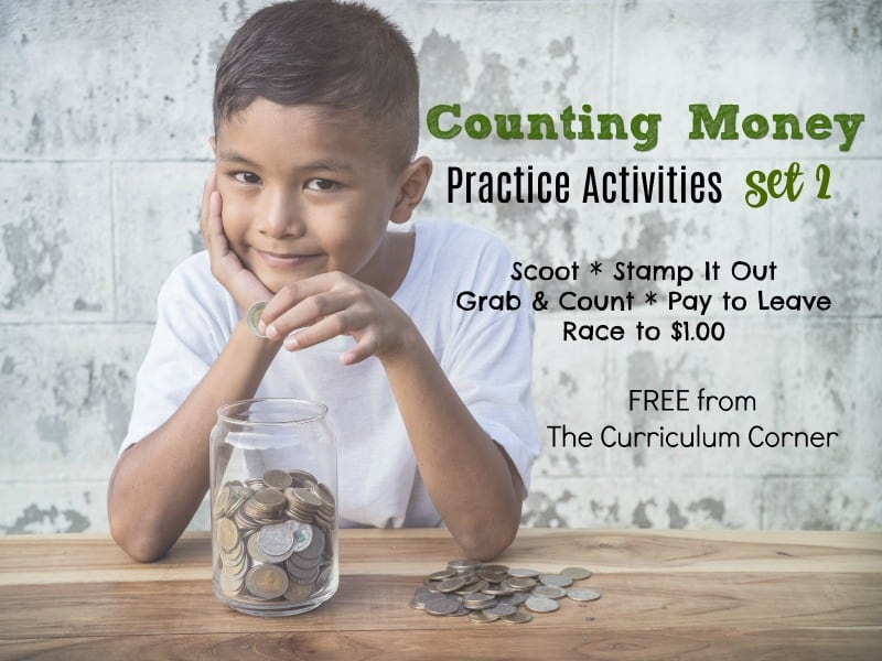We've collected an assortment of counting money games and activities to help you give your students money counting practice in the classroom.