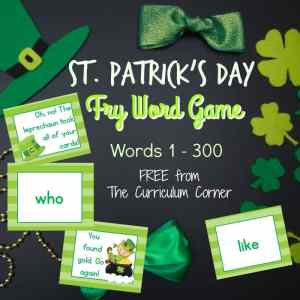 FREE St. Patrick's Day Fry Word Game from The Curriculum Corner 2