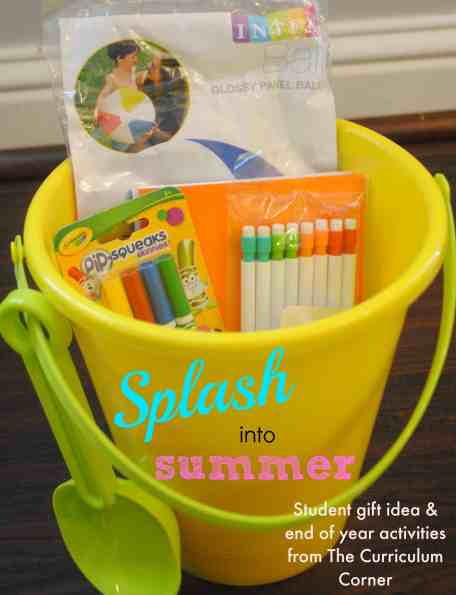 Splash into Summer student gift idea & end of the year activities, centers & more by The Curriculum Corner