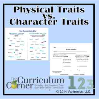Physical Traits vs. Character Traits by The Curriculum Corner & VariQuest