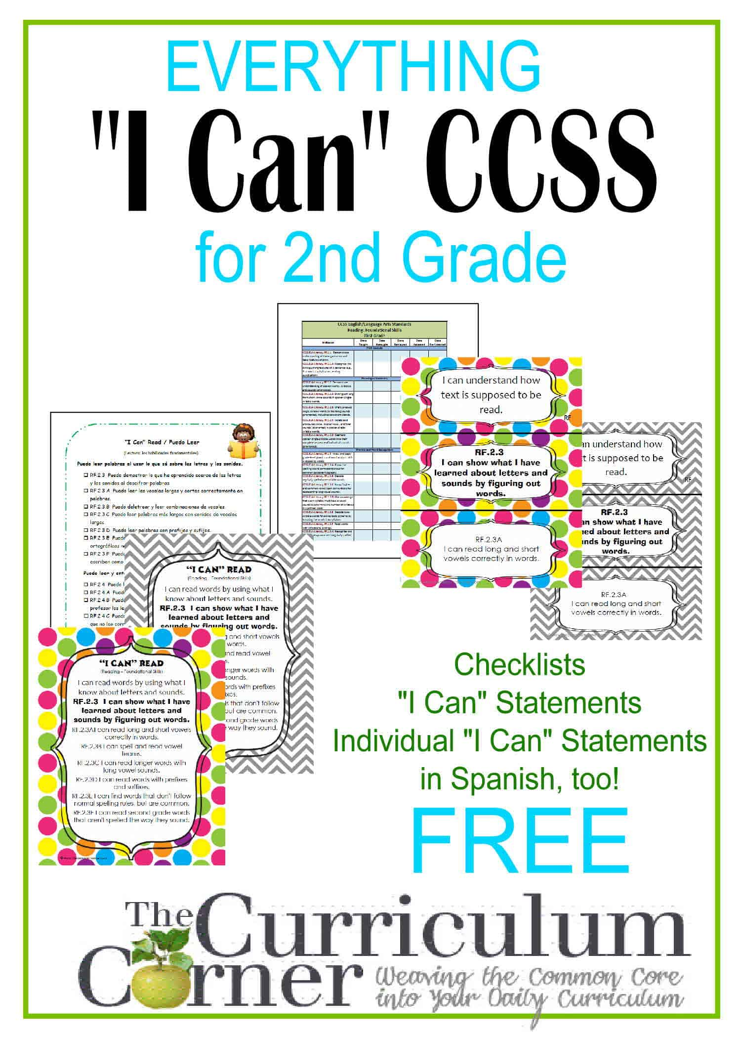 Everything I Can Common Core For 2nd Grade