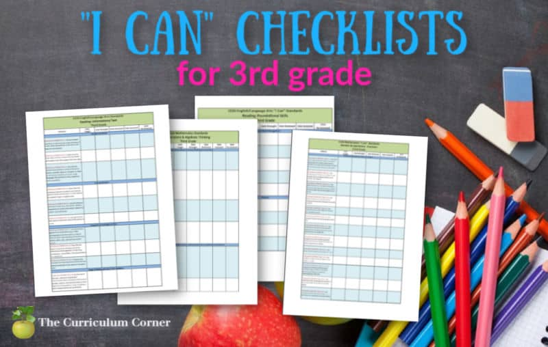 "1st Grade ""I Can"" Checklists"