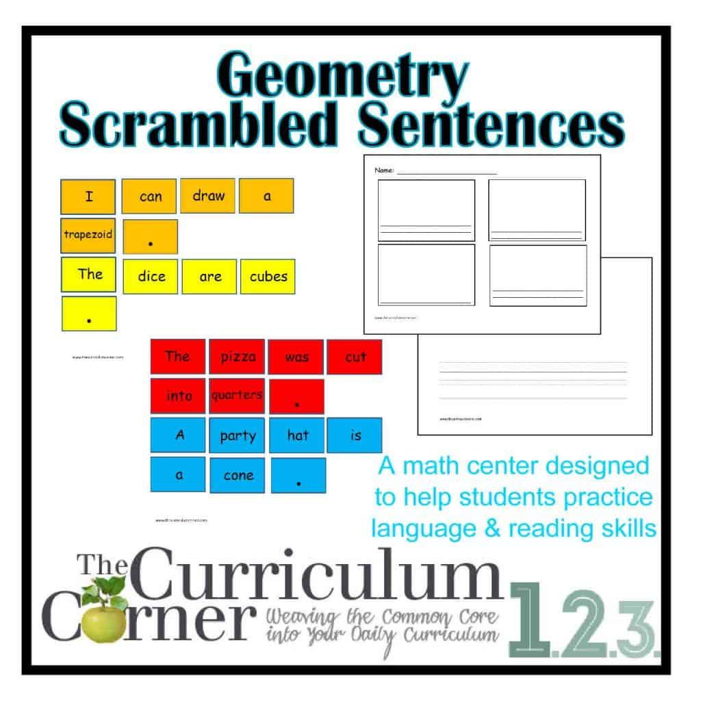 Geometry Scrambled Sentences